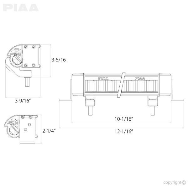 PIAA LED LightBar10 FloodFog